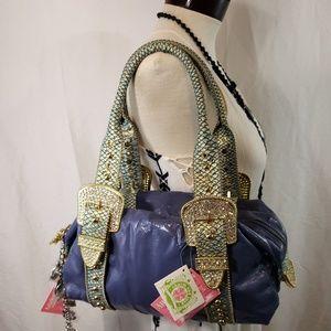 Charm Luck Leather Handbag With Extra Charms